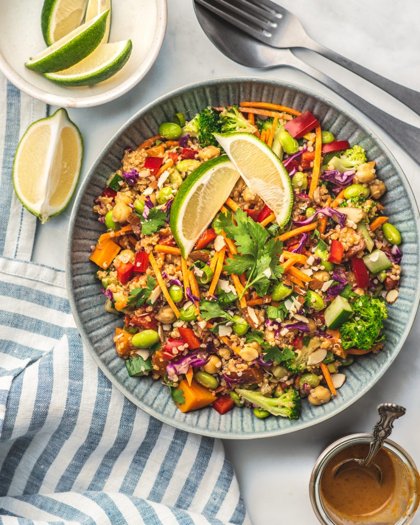 Pad Thai protein salad recipe, photo courtesy of Ashley Madden
