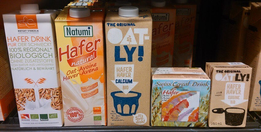 different plant milks