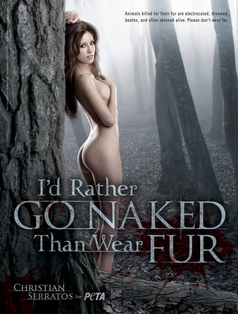 CHRISTIAN SERRATOS I'd Rather Go Naked PSA (PETA)