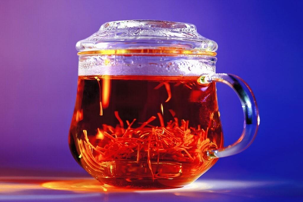 saffron infused tea