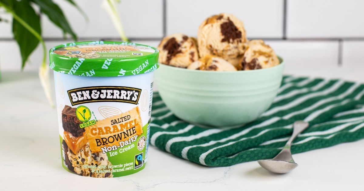 Ben & Jerry's Announce New Non-Dairy Salted Caramel Brownie Ice Cream 1