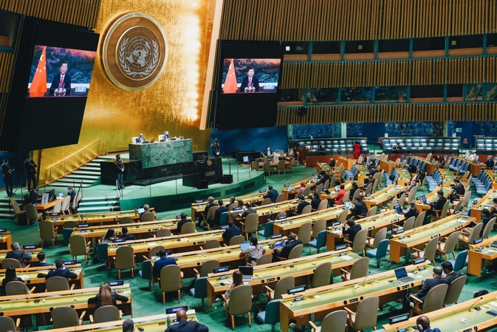 Photo shows Chinese President Xi Jinping, who spoke to the UN General Assembly over video call last month.