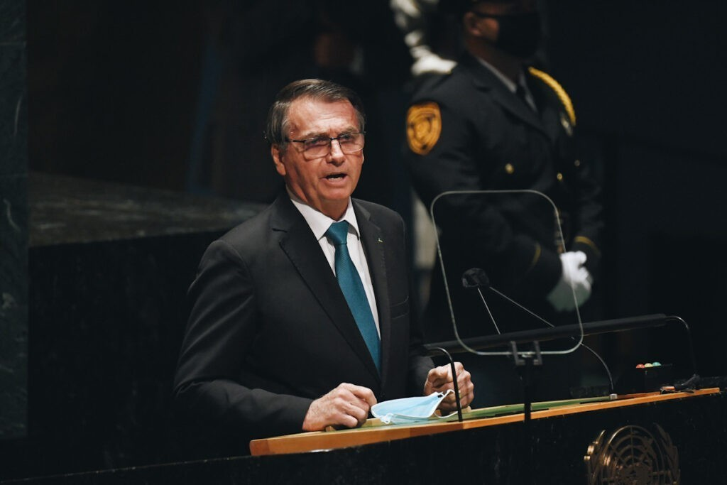 Photo shows Jair Messias Bolsonaro, the President of Brazil.