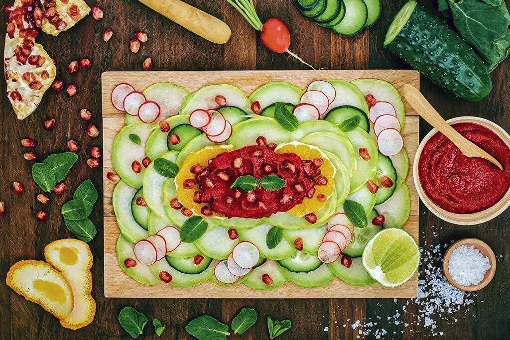 vegan carpaccio