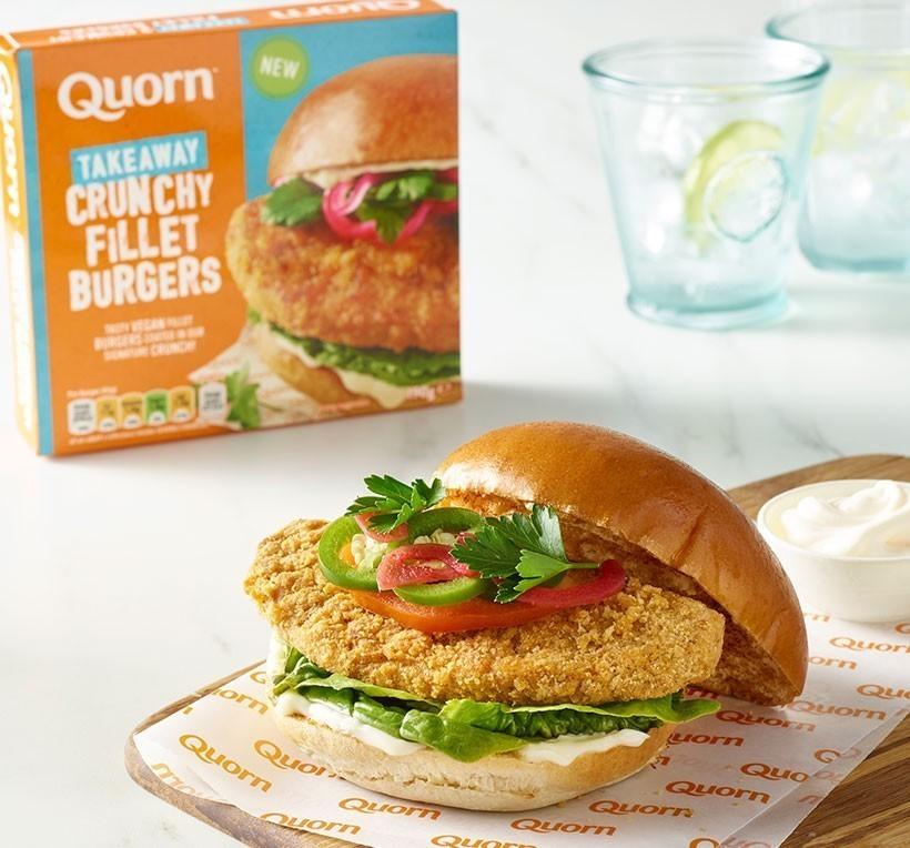 quorn vegan takeaway crunchy fillet burger